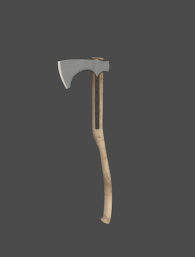 battle axe 3d model low-poly obj mtl fbx tga 1