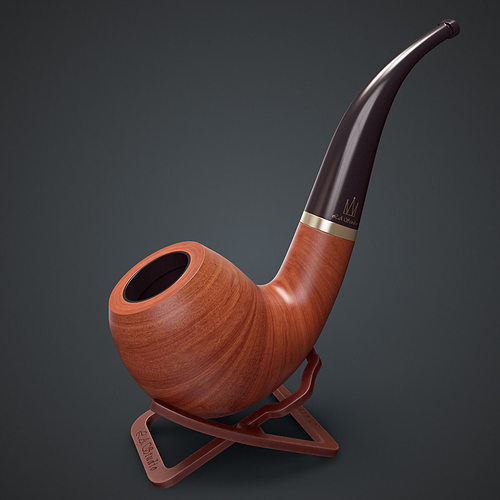 smoking pipe interior decoration element 3d model max obj mtl fbx 1