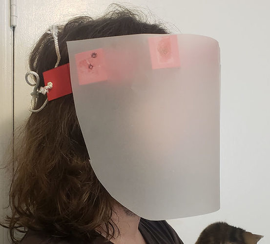 Quick and Dirty Cardstock Face Shield