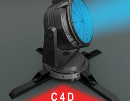Searchlight 3D rigged