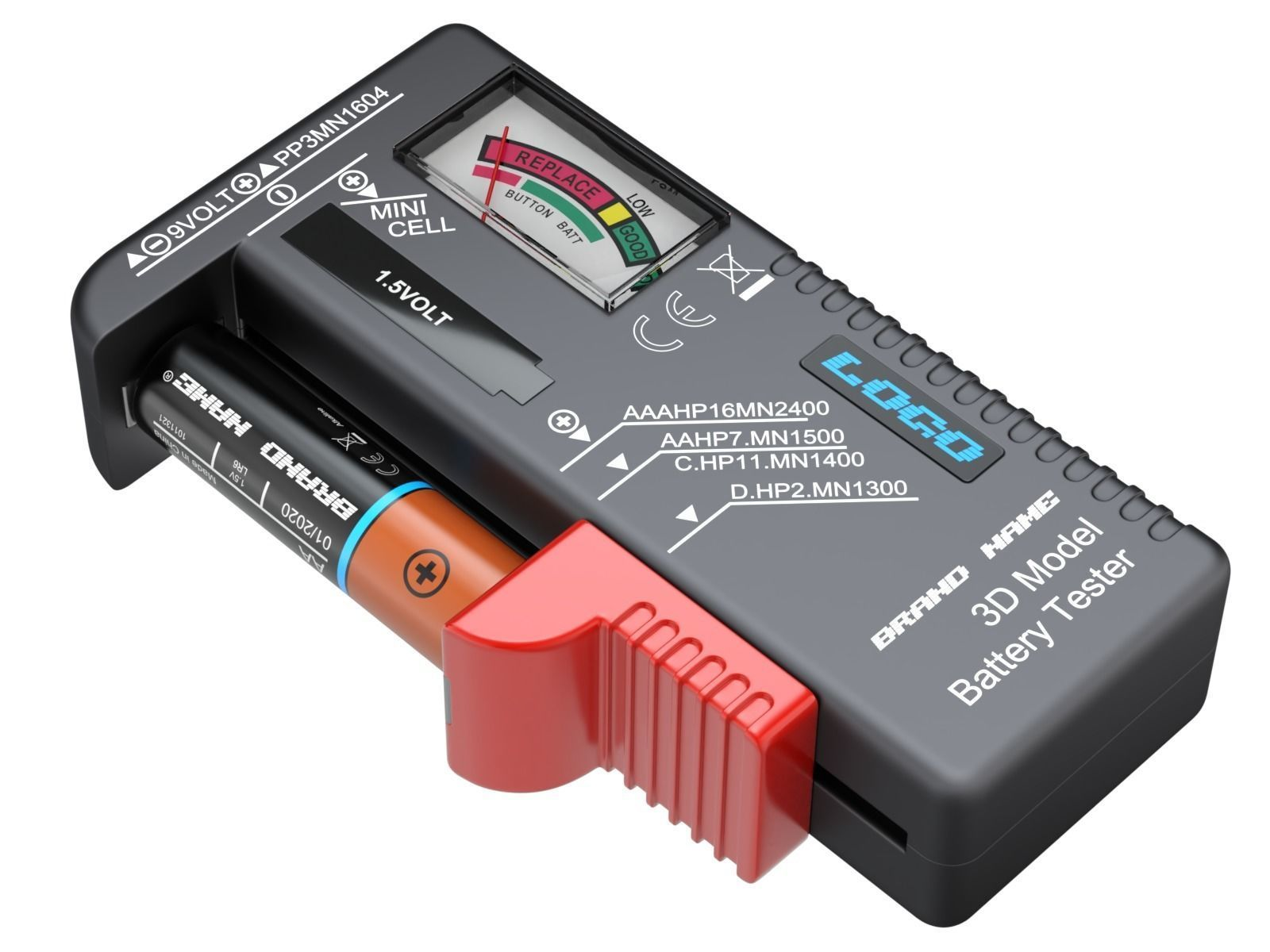 Battery Tester With AA Battery