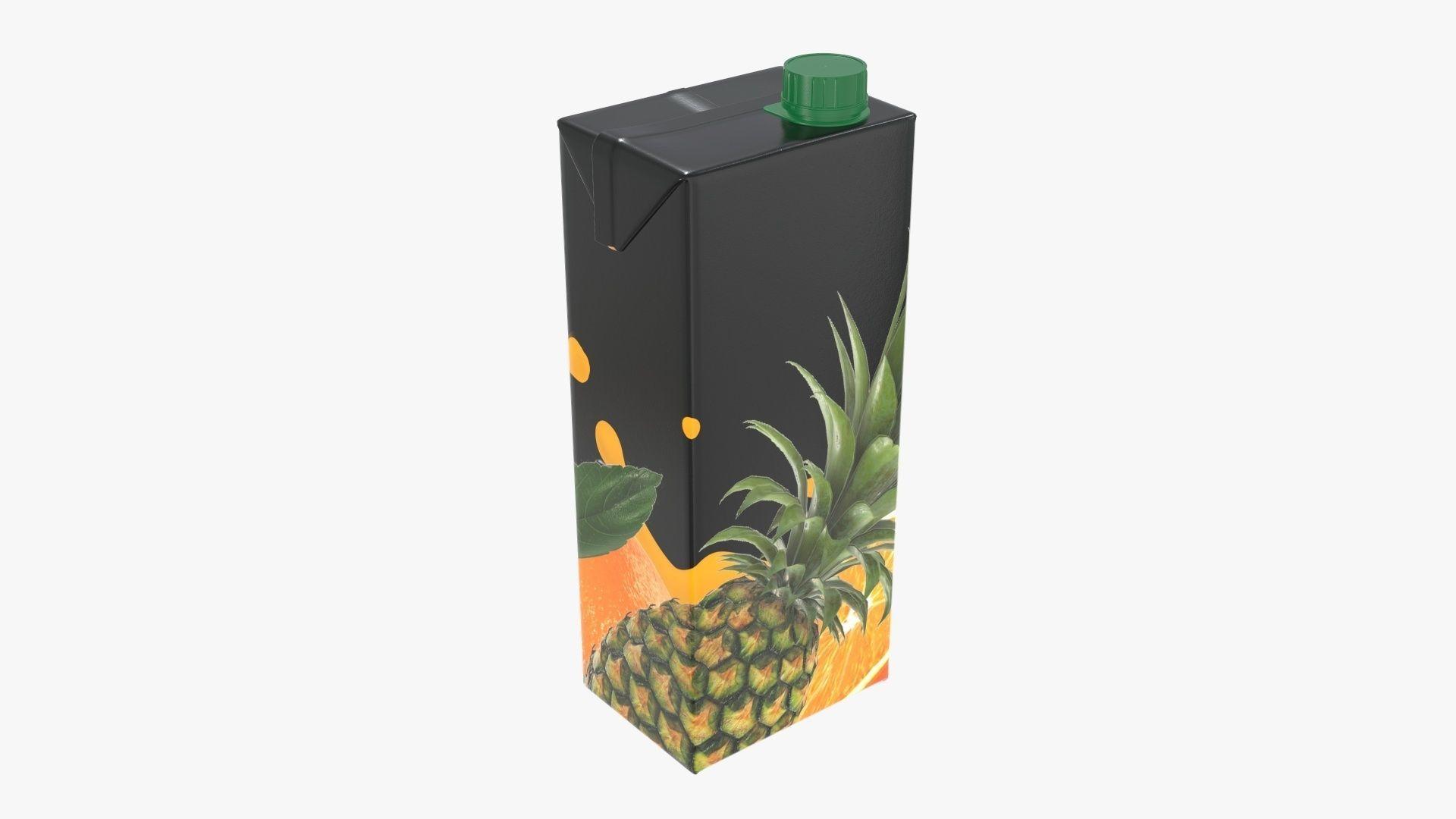 Juice 1500ml cardboard box packaging with cap