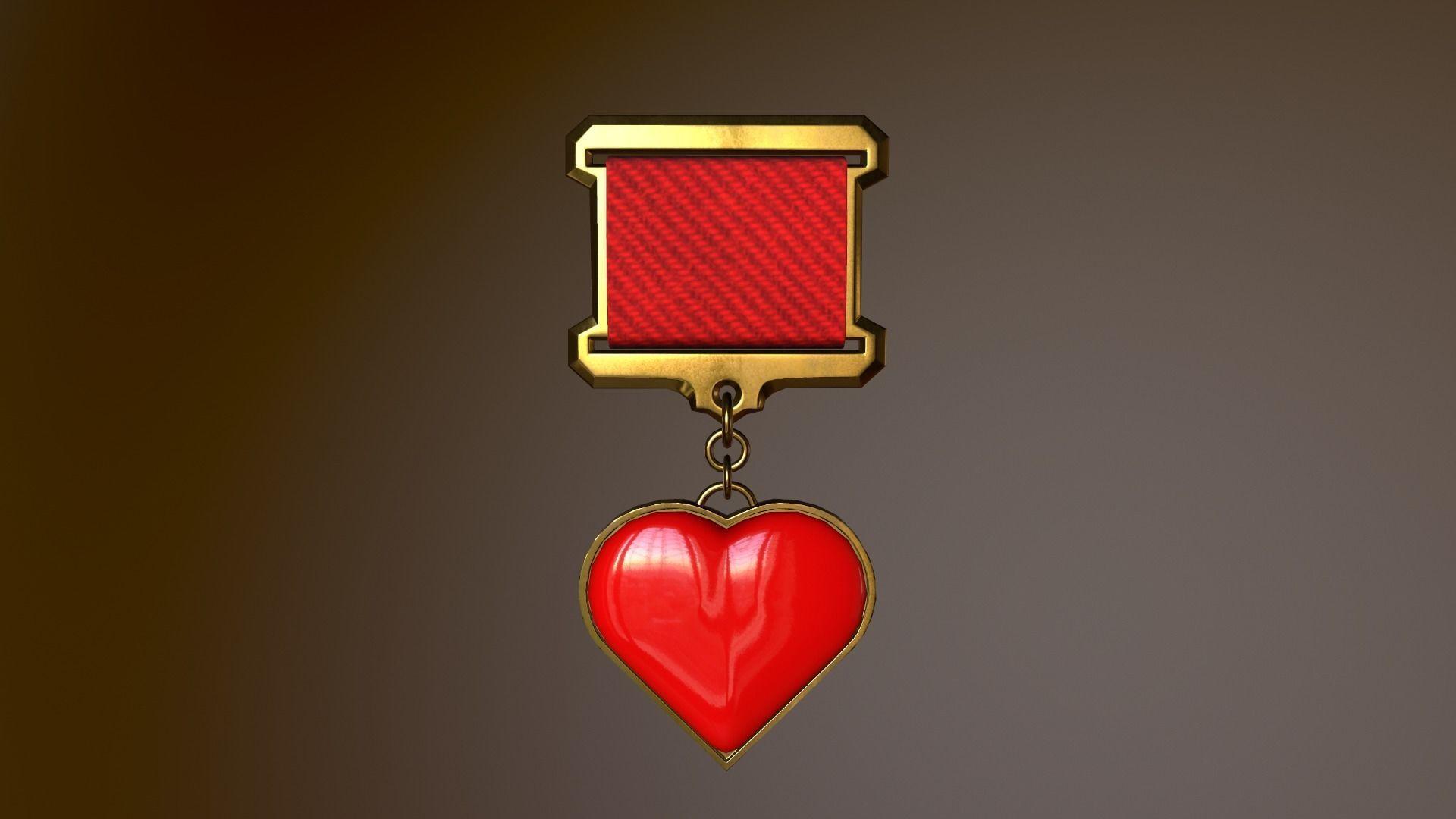 Gold Heart Medal