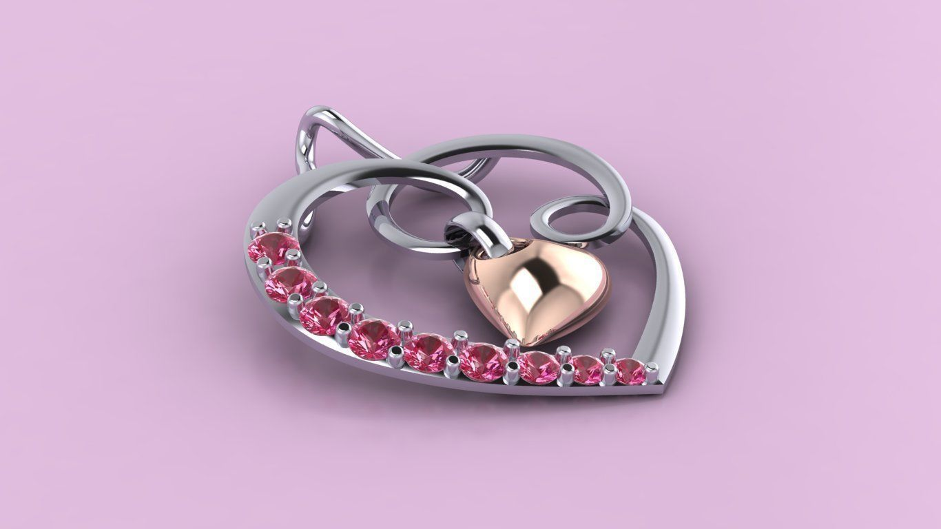 heart pendant love kiss Jewelry medallion