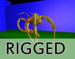 Spider Creature Rigged 3D asset