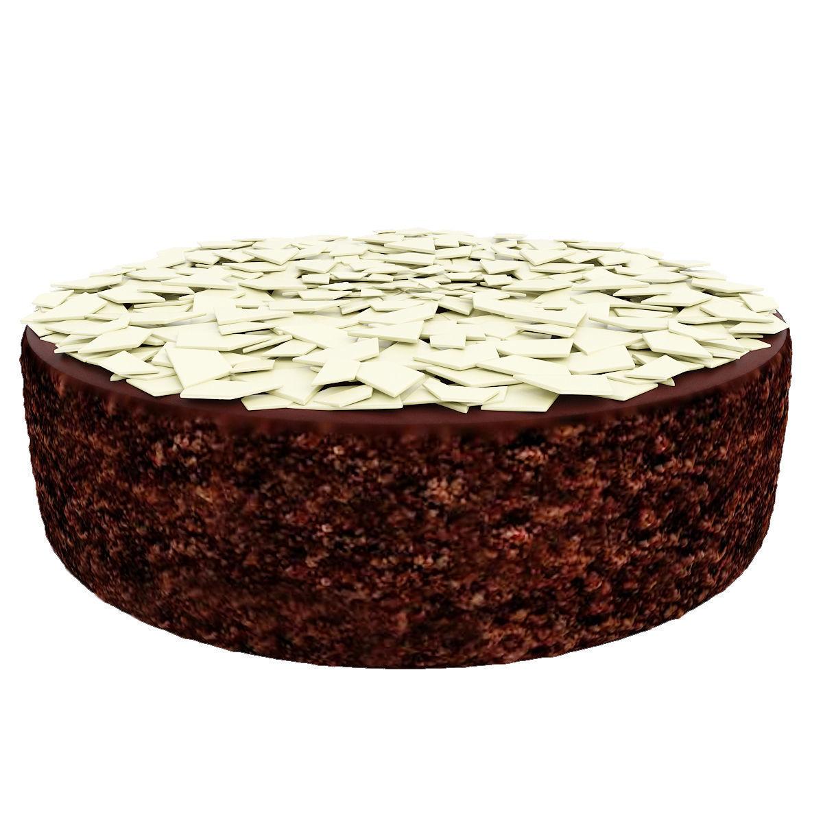 Chocolate cake with white chocolate