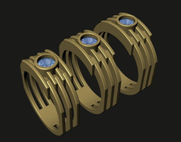 3d print model resized ring tech sizes us 9  us10  us11