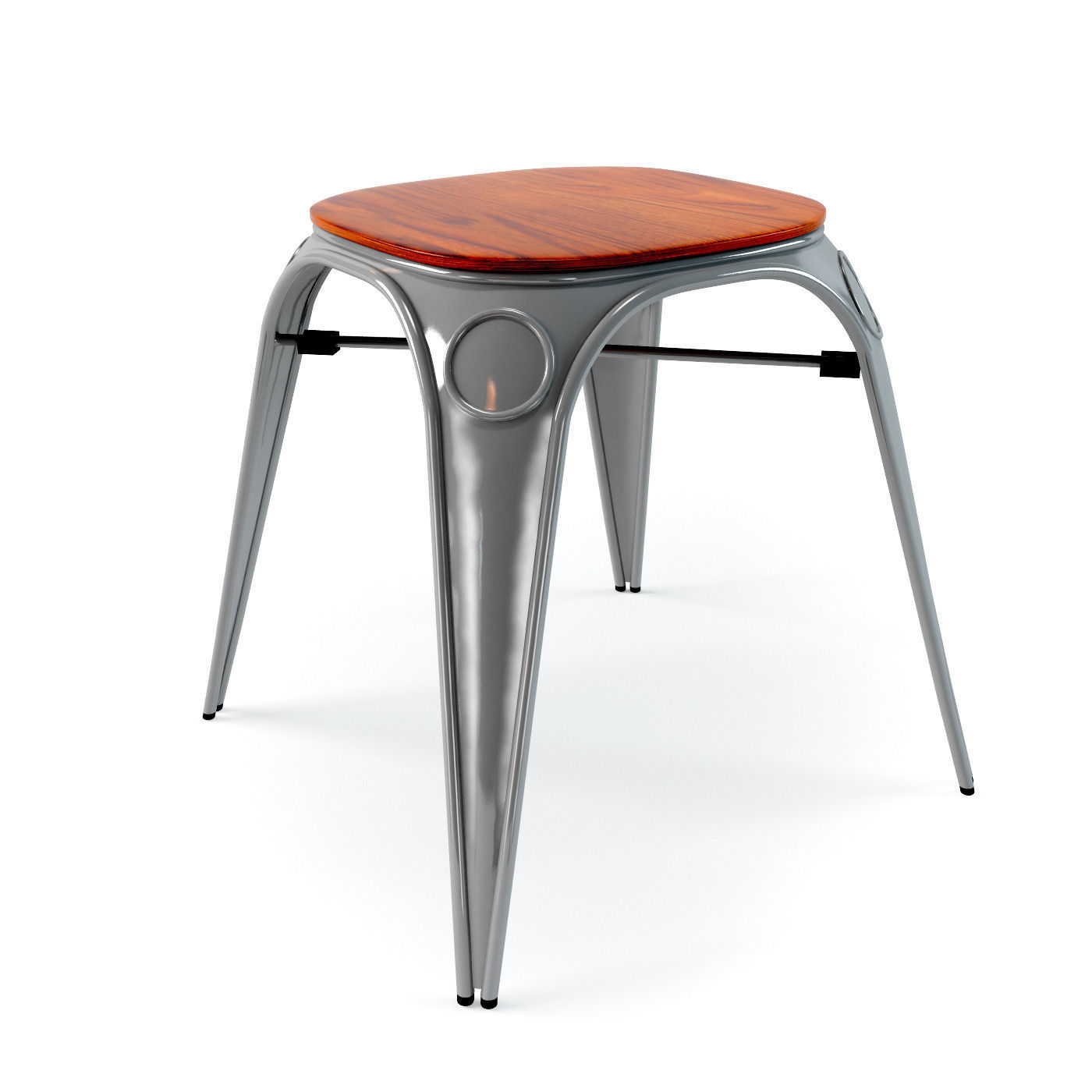 Louix chair High and stool 3D