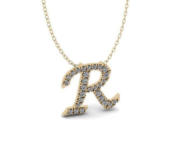 Pendant Alphabet Letter R