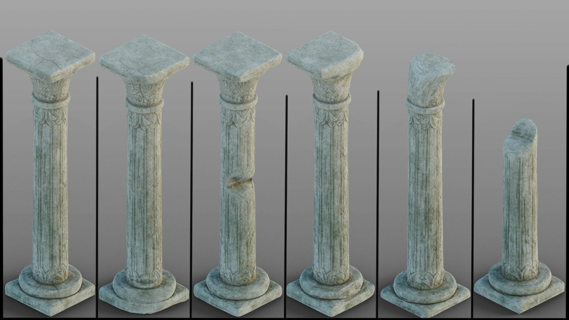 Gothic window pillars