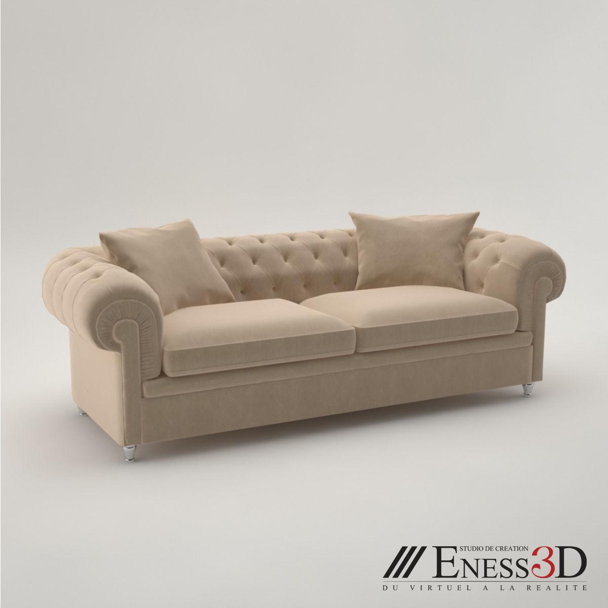 pro - fendi albione sofa 3d model max obj fbx - Fendi Sofa