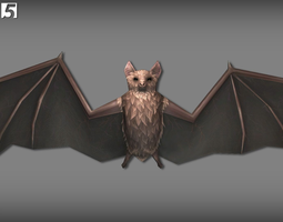 Animated Bats Pack 3D asset