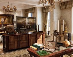 3d model living room interior design with furniture 18
