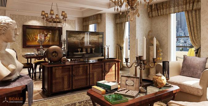 Living room interior design with furniture 18