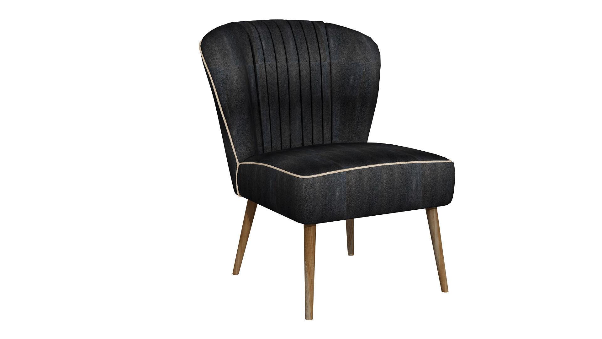 modern black chair peugen