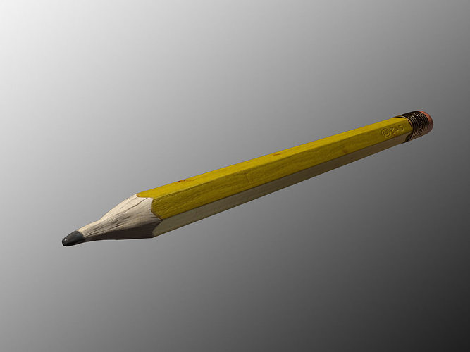 pencil 3d model max obj mtl 1