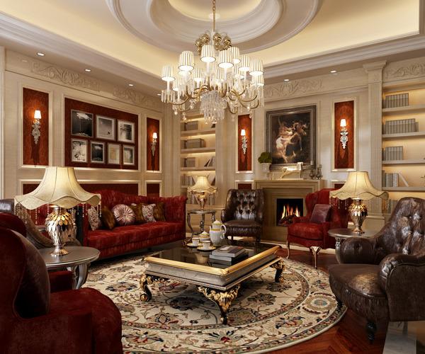 Luxury Living Room 3D Model