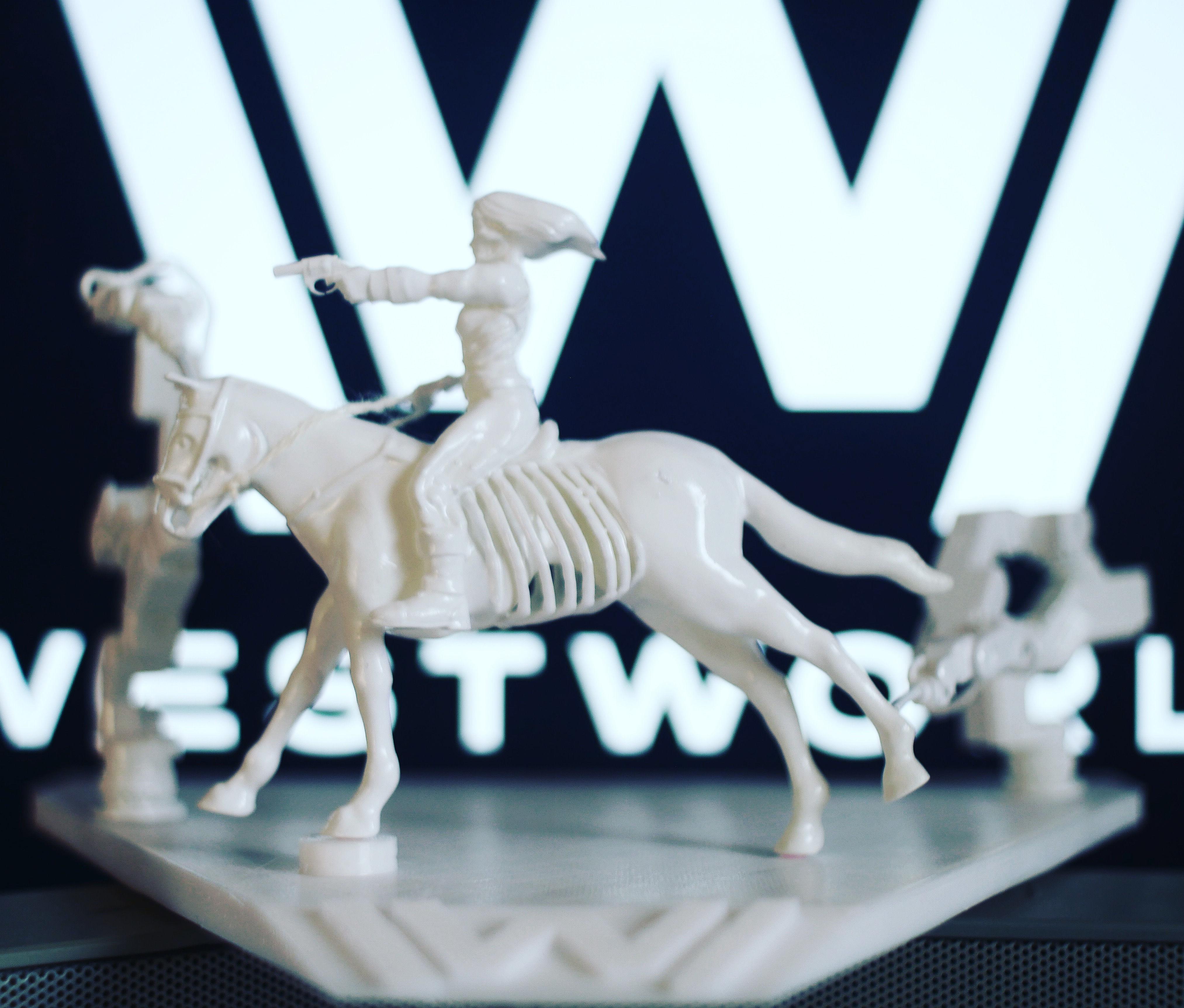 WestWorld diorama - woman riding horse with gun