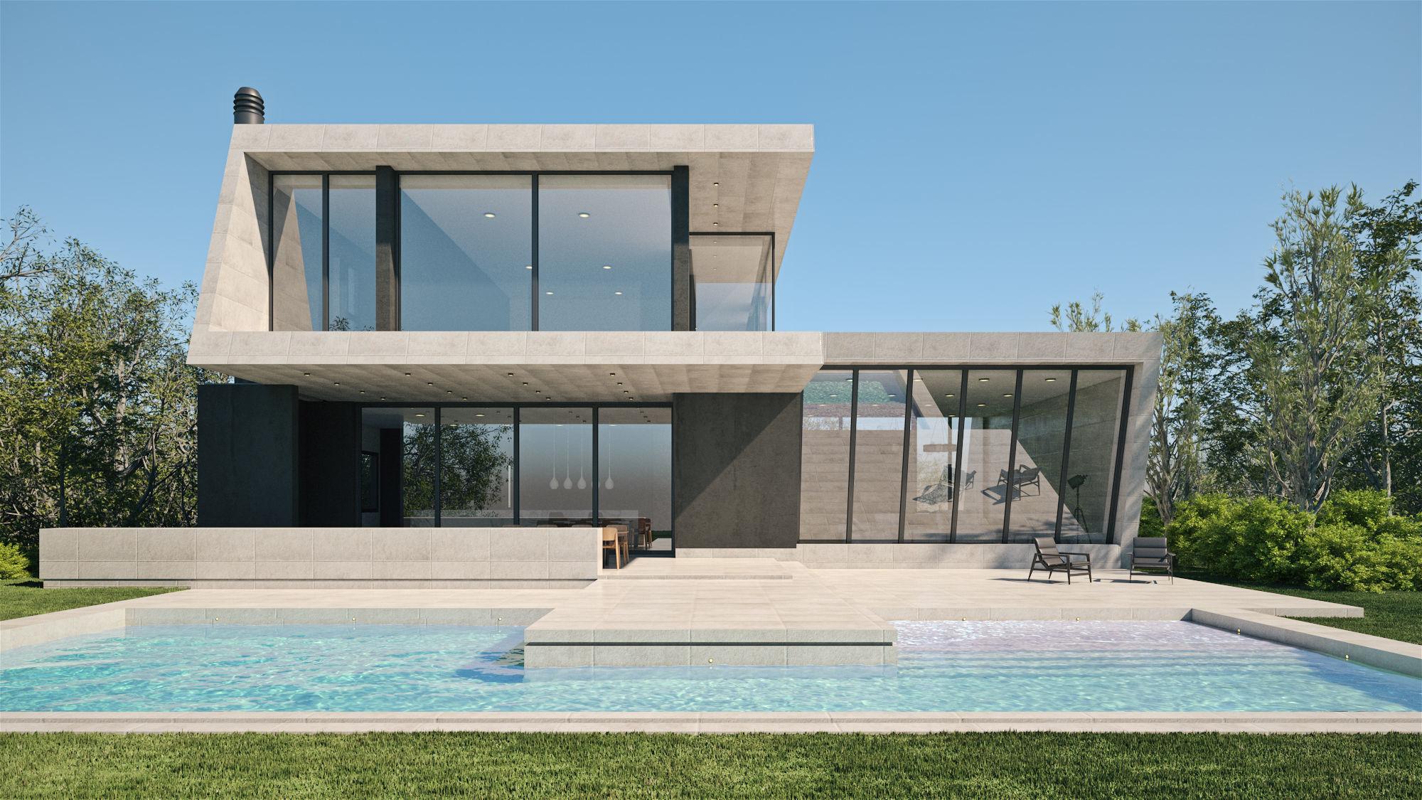 Exterior House Scene 3 - Marble House