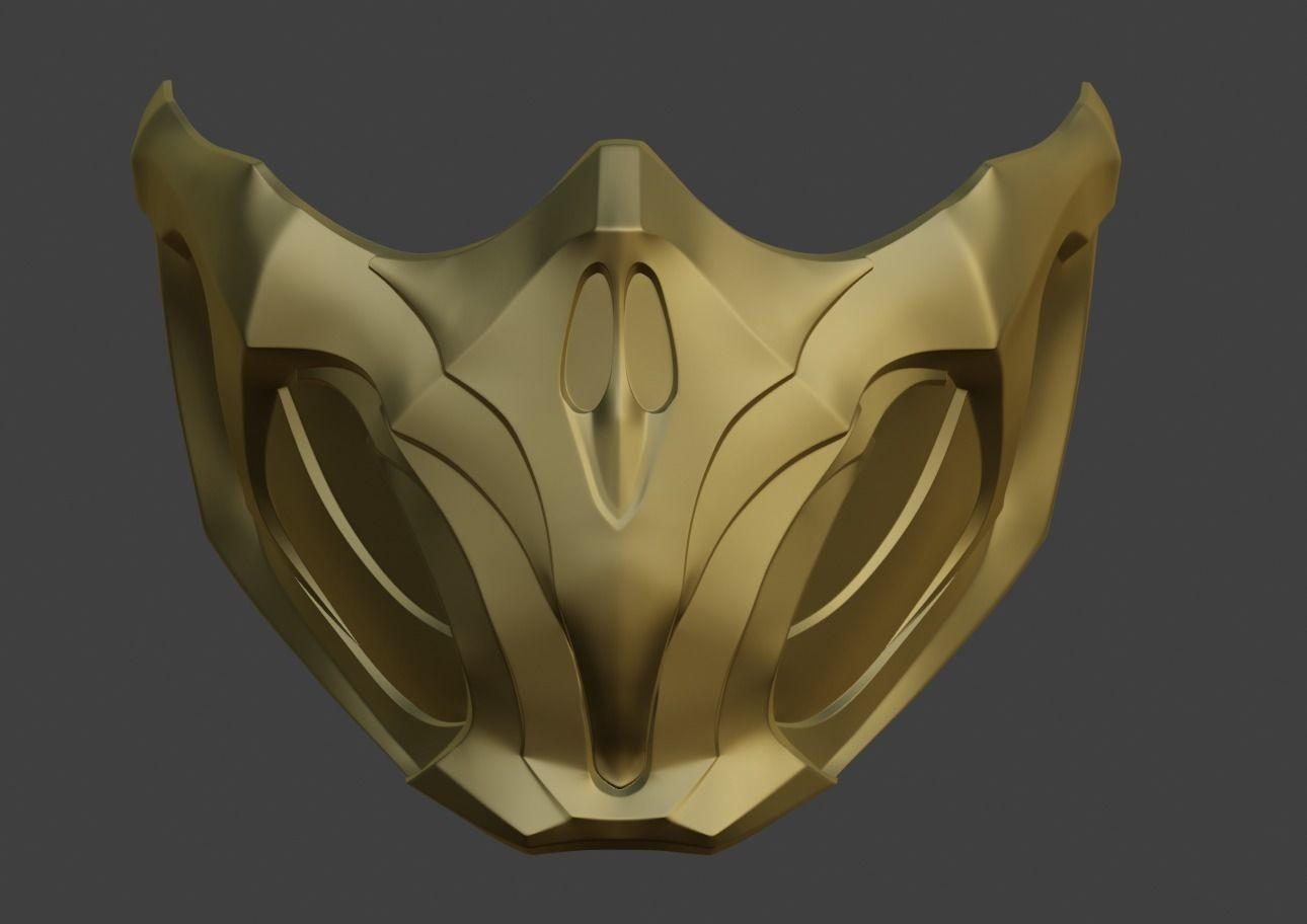 Scorpion Mask From Mortal Kombat 11 Mk 3d Print Model