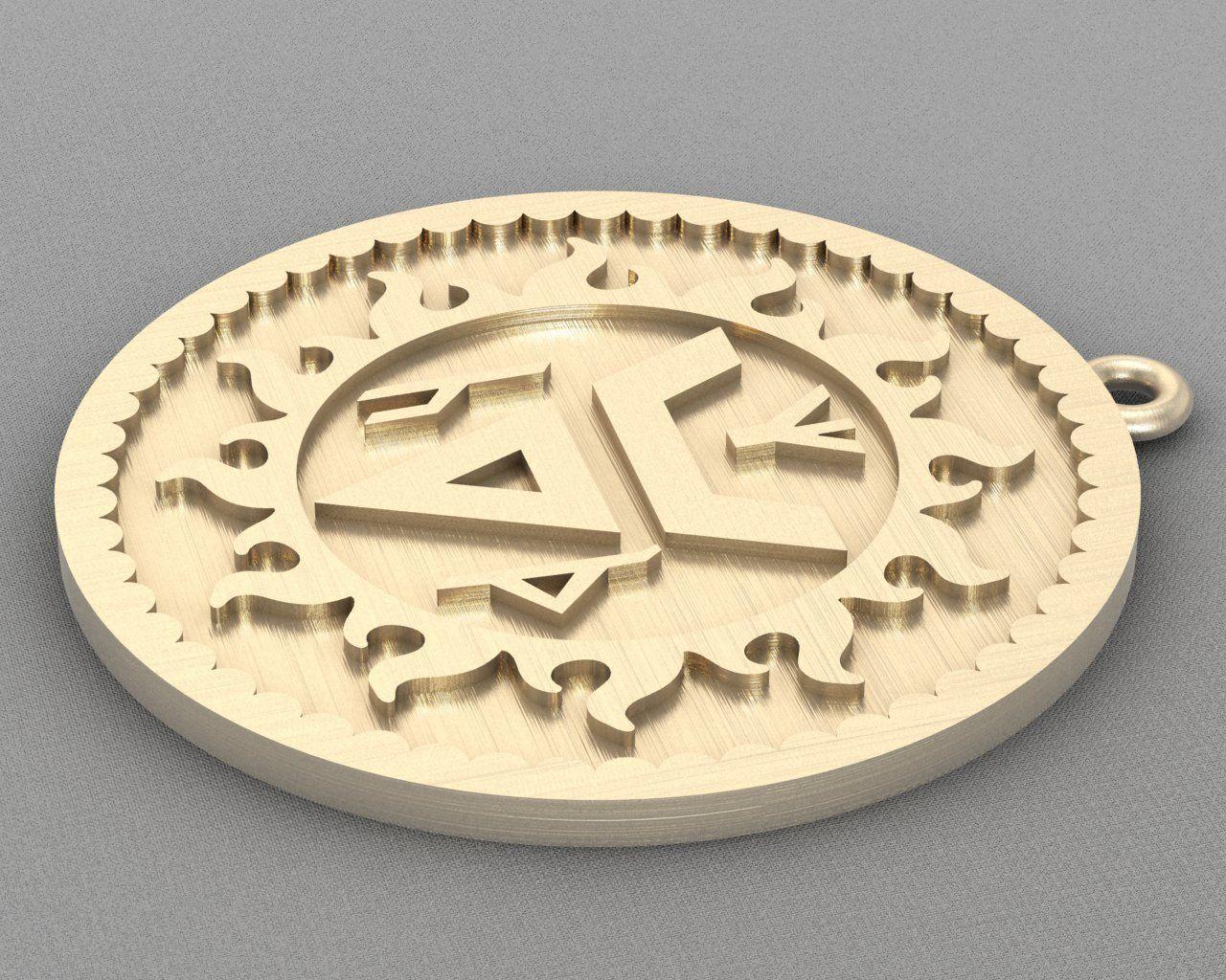 Pendant rune A