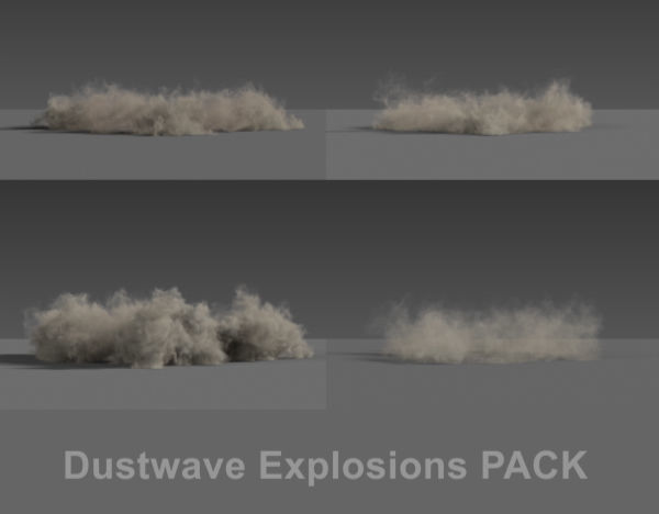 Dust wave Explosions PACK VDB