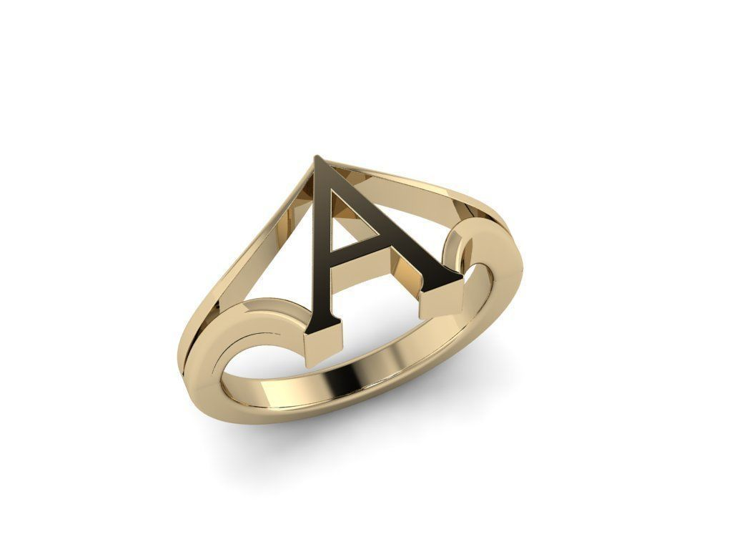 Jewelry Alphabet Ring A