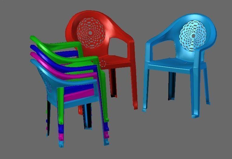 Plastic chair 3D Model 3D printable   CGTrader.com