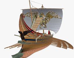 Roman Trireme Battle Ship 3D