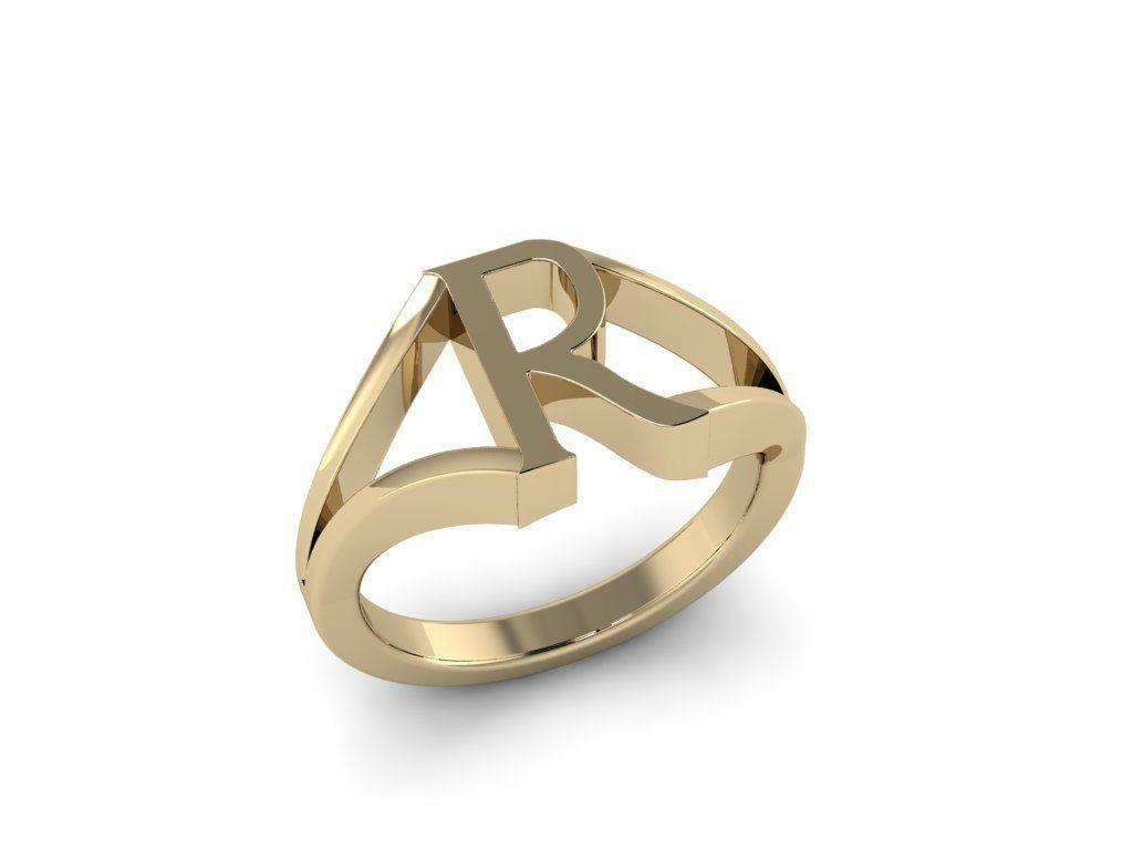 Jewelry Alphabet Ring R