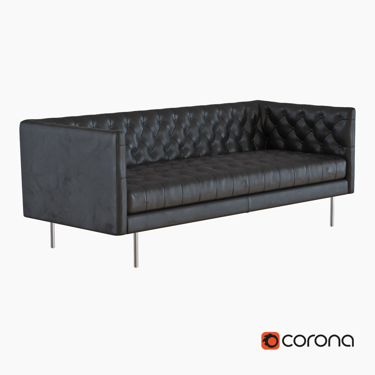 West Elm Modern Chesterfield Leather Sofa Model