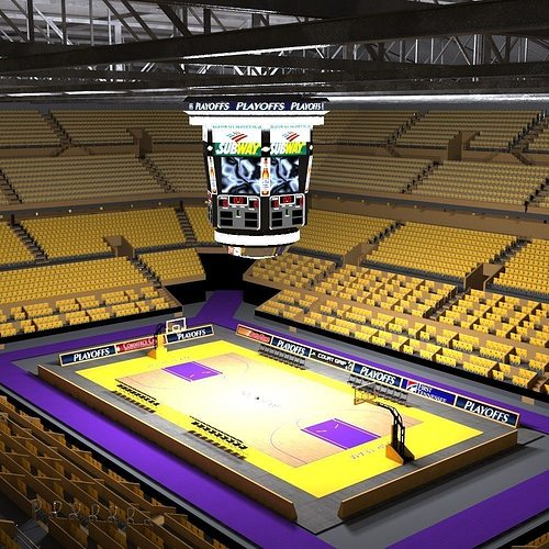 basketball stadium 3d model fbx ma mb 1