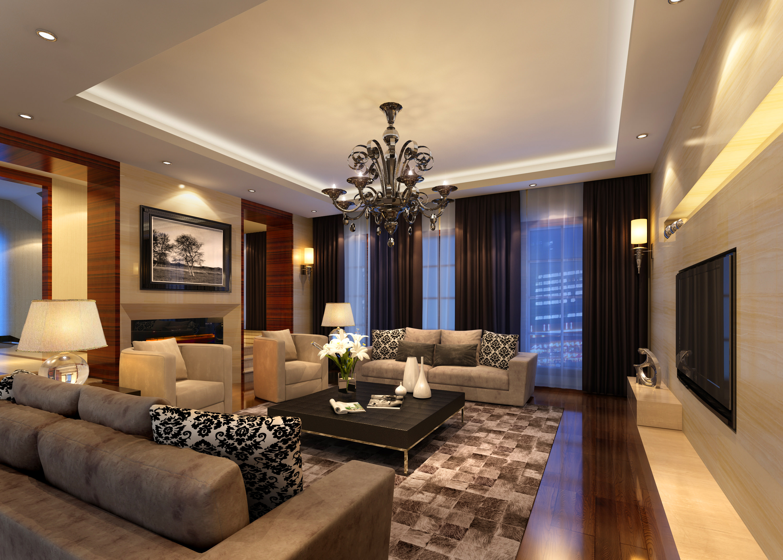 Living Room Model living room 3d model max