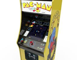 low-poly 3d model pacman arcade cabinet