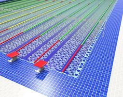 3D asset olympic swimming pool
