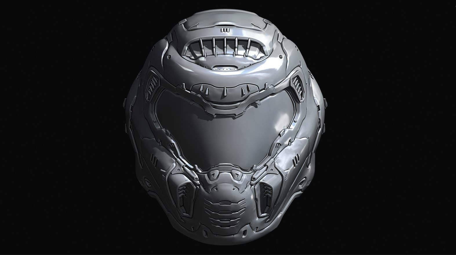 Doom Slayer Eternal Helmet 3d Printable Model