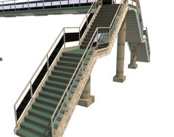 overpass 3d model low-poly