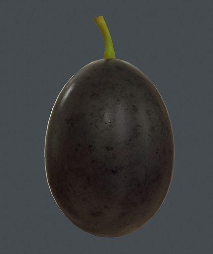 grape 3d model low-poly obj fbx ma mb tga 1
