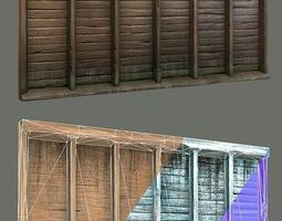 Wood wall Fixture 3D asset