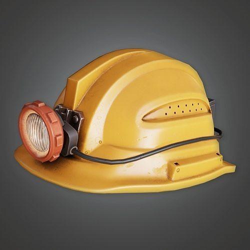 HAT - Miners Helmet - PBR Game Ready