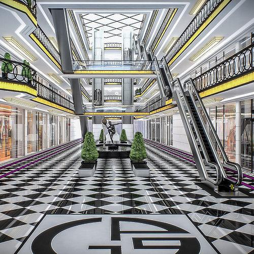 shopping mall interior 3d model max obj mtl fbx dae 1