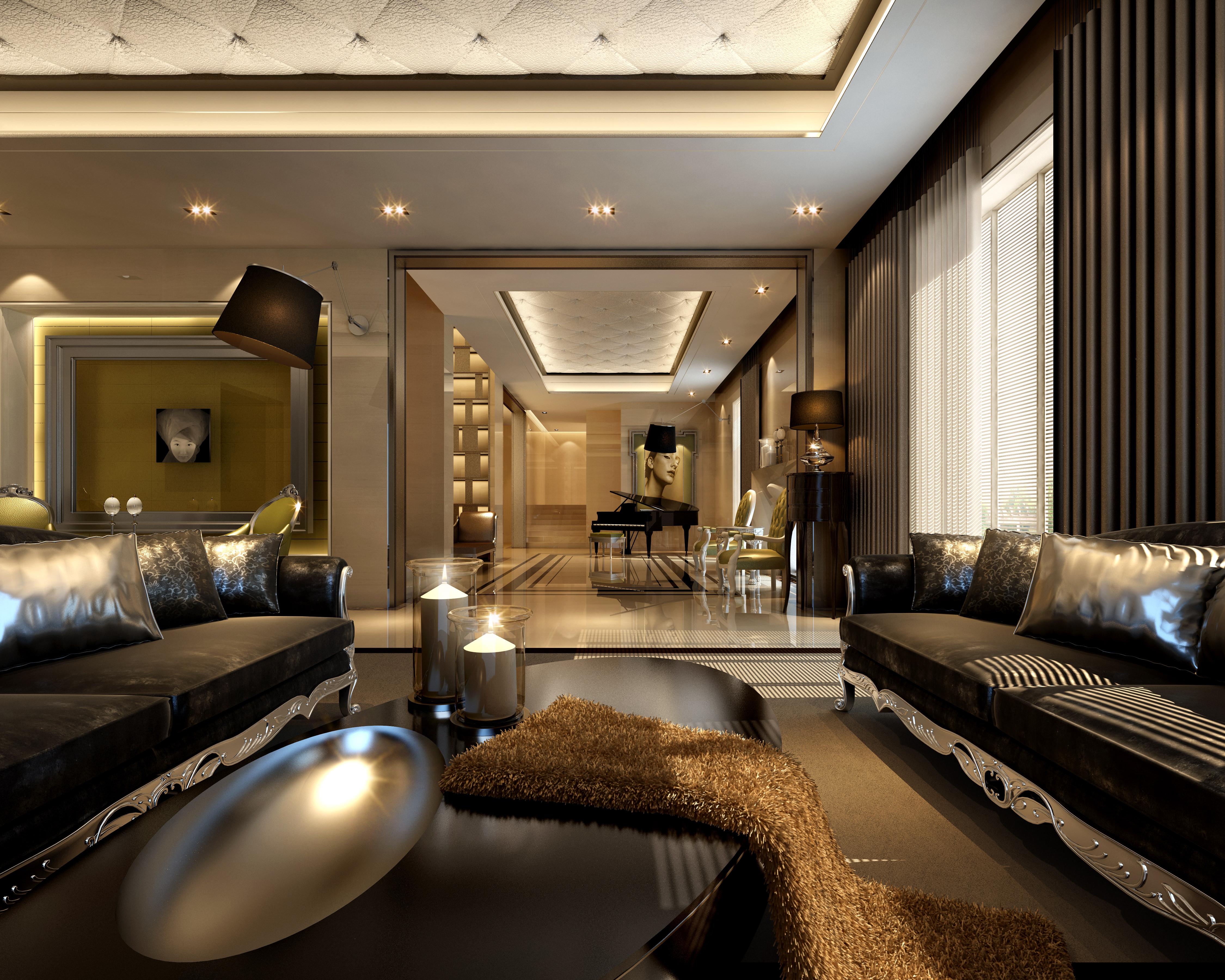 living room design 3d model  living-room Elegant living room 3D model | CGTrader