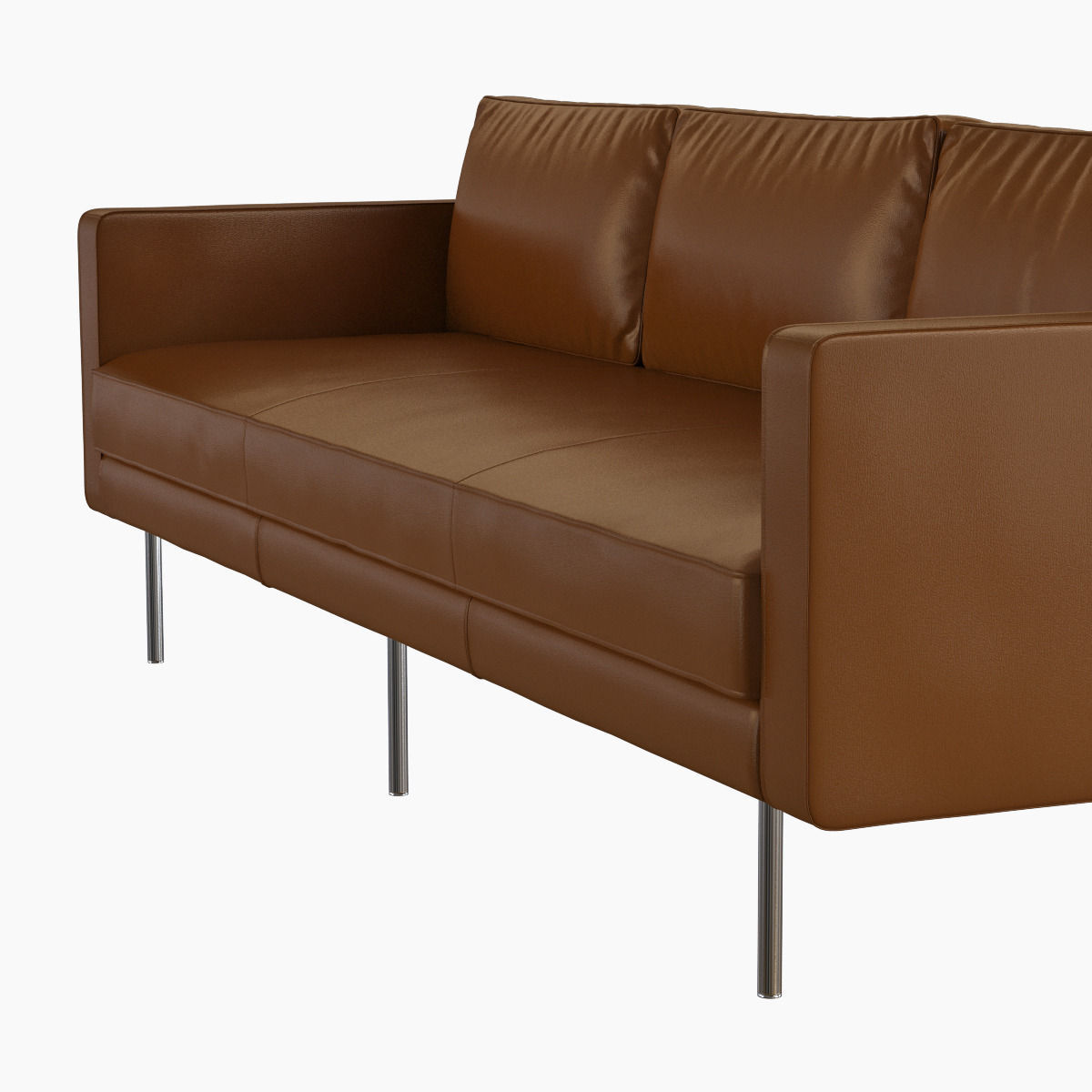 ... West Elm Axel Leather Sofa 3d Model Max Obj Fbx Mtl 4 ...