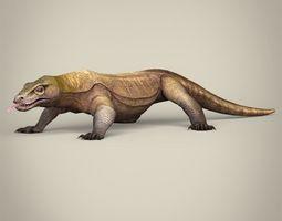 Low Poly Realistic Komodo Dragon 3D asset