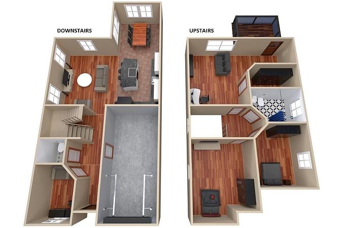 house - floor plan 3d model obj 3ds fbx blend dae 1