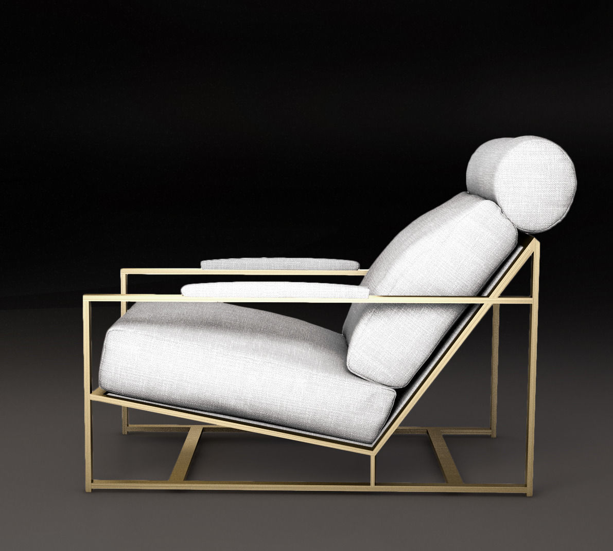 Nice Milo Baughman 1965 Armchair Milo Chair 3d Model Max Obj Mtl Tga 1