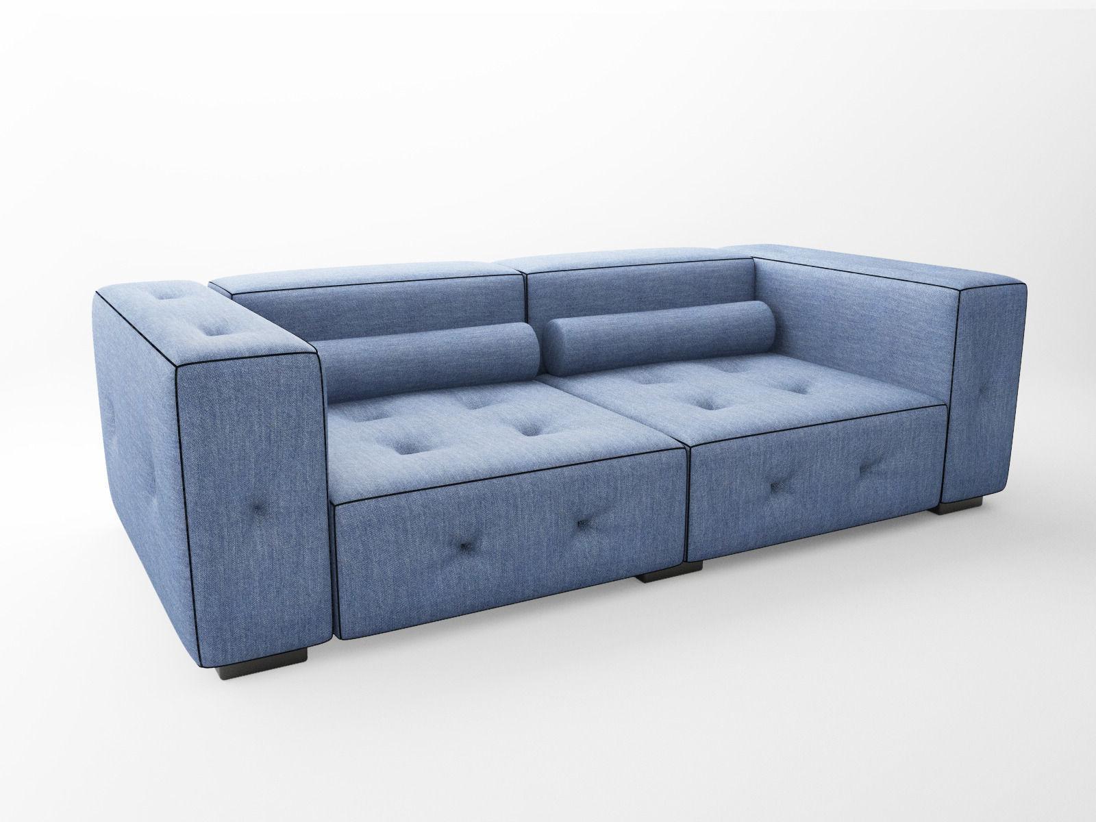 Denim couch 3D model