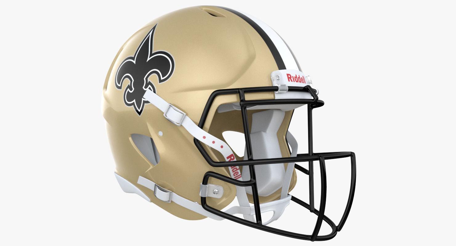 New Orleans Saints Football Player Helmet