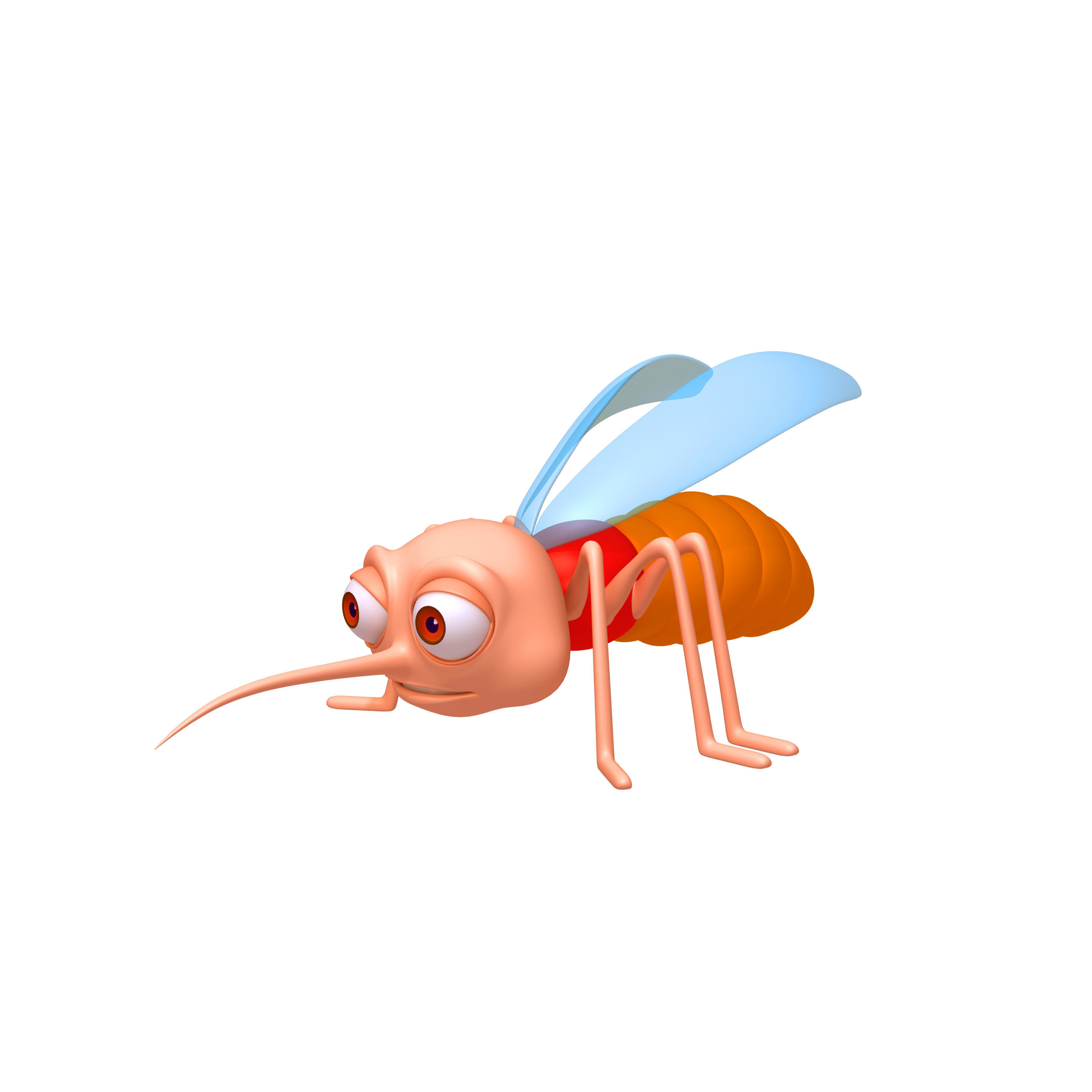 3d Model Mosquito Cartoon Cgtrader