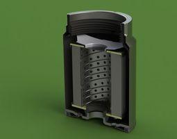 MANN PL270 disel fuel filter 3D model